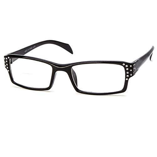 - BIFOCAL READING GLASSES CLEAR LENS RHINESTONE WOMEN STYLISH STRENGTH POWER