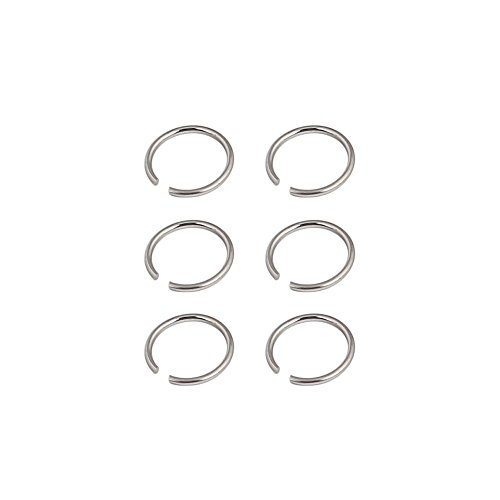 Ruifan 3prs Non Pierced Stainless Steel Clip on Closure Round Ring Fake Nose Lip Helix Cartilage Tragus Ear Hoop 20G 8mm Steel