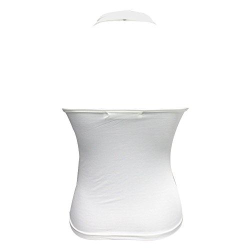 BEEY - Camiseta sin mangas - Básico - Cutaway - para mujer blanco