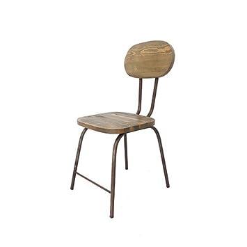 Vintadecor Chaise SCHOOL Style Ancien College L40 X A45 H59 Hr85 Cm