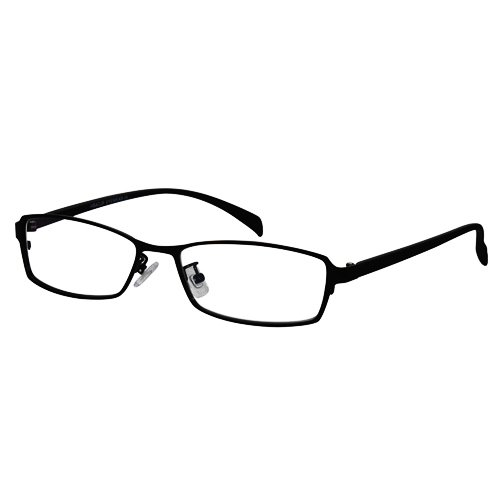 EyeBuyExpress Rectangle Black Reading Glasses Magnification Strength 1.25