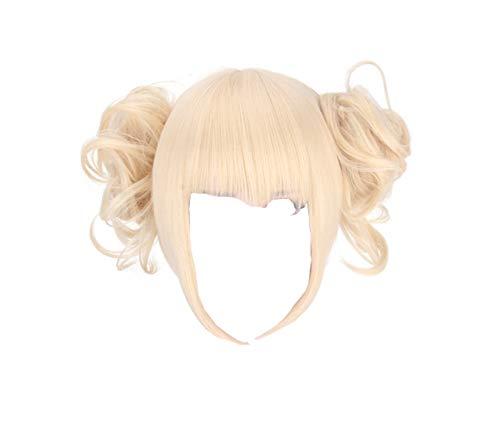 Mikucos Boku No Hero Academia My Hero Academia Himiko Toga Cosplay Costume Hair Wig Short Synthetic Hair