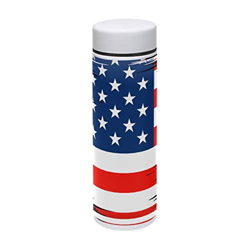 LORVIES Flag United States Stainless Steel Thermos Water Bottle Insulated Vacuum Cup Leak Proof Double Vacuum Bottle for Hot and Cold Drinks Coffee or Tea, Travel Thermal Mug,220 ml/ 7.5oz -