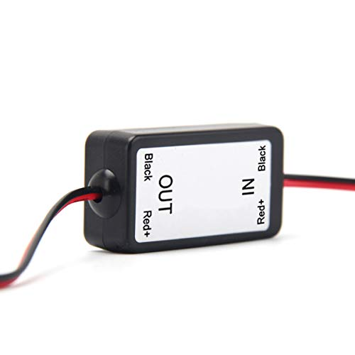 Dasaita 12V DC Power Relay Capacitor Filter Rectifiers for Car Rear View Back Up Camera -Aftermarket Camera
