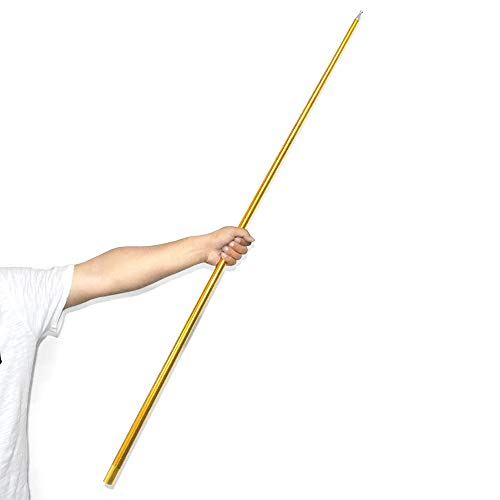 bigbao Metal Appearing Cane Magic Wand Professional Magician Stage Close-up Magic Trick Magic Accessories (Golden, 59″)