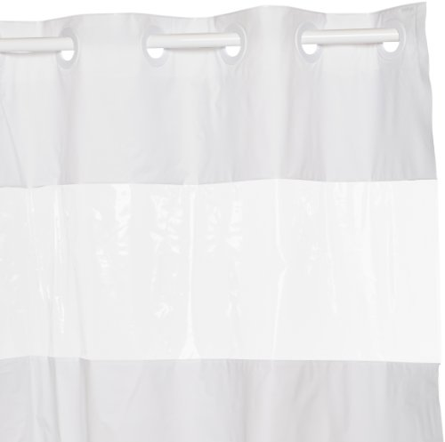 Hookless RBH14HH05 PEVA Shower Curtain - White (Window Shower Liner compare prices)