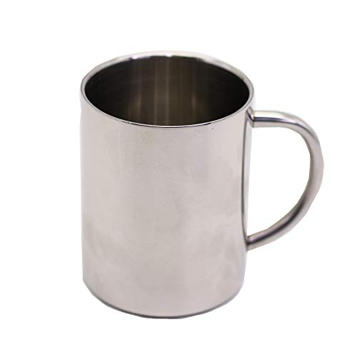 Leisure Quip Stainless Steel Coffee Mug, 12 Ounces, Premium Food Grade, Double-Wall Coffee Mug for Camping and Outdoor Activities