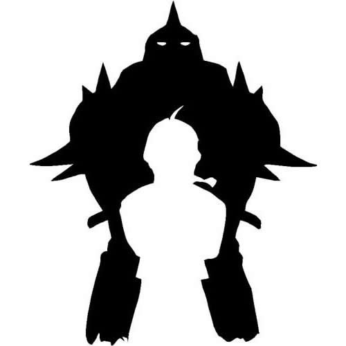 DD068 Fullmetal Alchemist Elrich Brothers Inspired Decal Sticker | 6.5-Inches By 5.4-Inches | Premium Quality Black - Metal Full Inspired