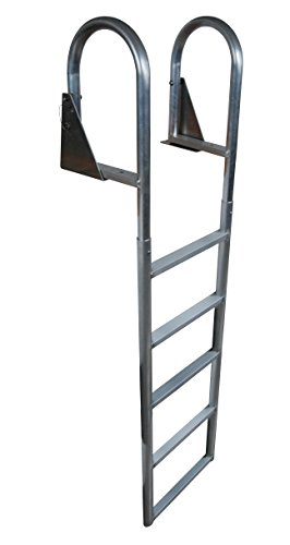 Dock Edge Dock Ladder, 5 - Step, Flip Up, Welded- Aluminum