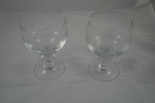 (6213 - Princess House 2 Crystal Glasses)