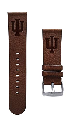(Affinity Bands Indiana University Hoosiers 20mm Premium Leather Watch Band - 2 Lengths - 3 Leather Colors - Officially Licensed)