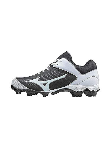 Mizuno Women's 9-Spike Advanced Finch Elite 3 Fastpitch Cleat Softball Shoe, Black/White, 10 B - Cleats Wide Softball