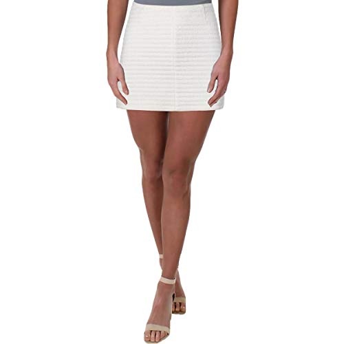 Theory Womens Keeta K Terry Cloth A-Line Mini Skirt White 00