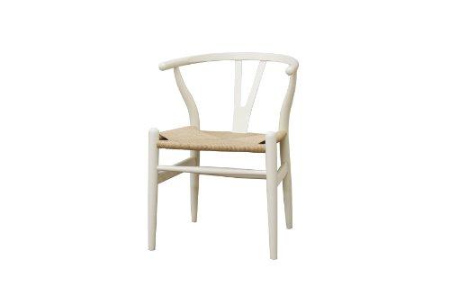 Baxton Studio Wood Wishbone Y Chair, Ivory
