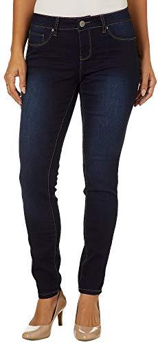 - Royalty by YMI Womens Tummy Control Skinny Jeans 10 Dark wash