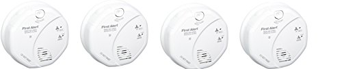 First Alert SCO5CN Combination Smoke and Carbon Monoxide Alarm, Battery Operated (4 PACK)
