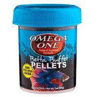 31 Wynql0WL - Omega One Betta Buffet Pellets Betta Food - 1oz