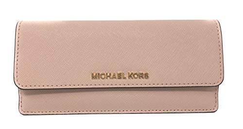 Michael Kors Jet Set Travel Flat Saffiano Leather Wallet (Ballet Pink)