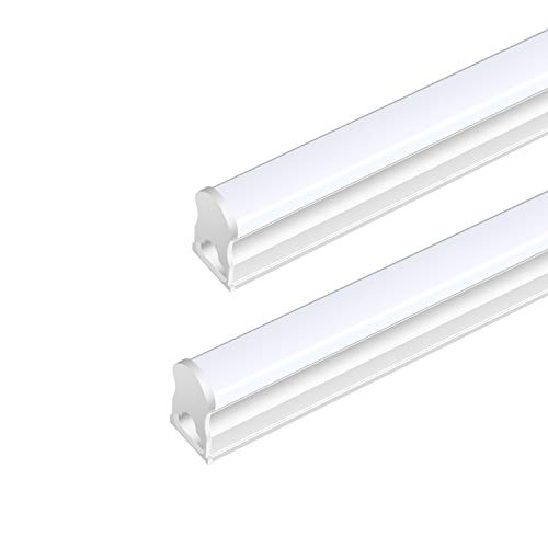 Affordable Fixtures - (Pack Of 2) DIKAIDA T5 Led Integrated Single Fixture, 4FT, 2000lm, 6500K(Super Bright White), 20W, Led Shop Lights with built-in On/Off Switch for Garage, Storage Area, Basement, Under Cabinet, Office