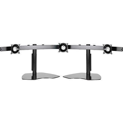 Chief Mfg. Widescreen Monitor Triple Horizontal Table Stand - Black Chief Multiple Monitor