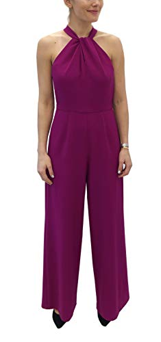 Julia Jordan Women's Twist Neck Halter Jumpsuit with Pockets