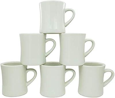 Coletti COL104 Vintage Restaurant Coffee Mugs | Coffee Mug Set of 6, 10 oz