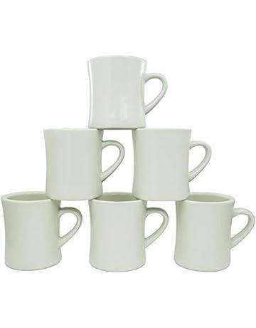 fa2c0d949be Coletti COL104 Vintage Restaurant Coffee Mugs | Coffee Mug Set of 6, 10 oz