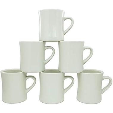 Coletti COL104 Vintage Restaurant Coffee Mugs   Coffee Mug Set of 6, 10 oz