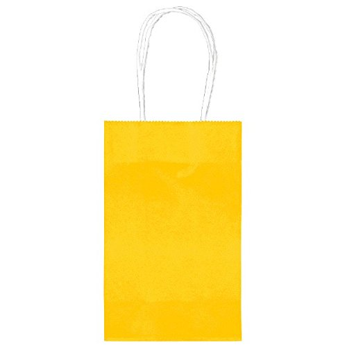 Amscan Sunshine Yellow Cub Bag Value Pack Party Supplies, Yellow, 8 1/4