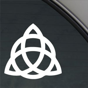 - TRIQUETRA TRINITY KNOT Decal Truck Window Sticker 3.6