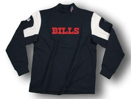 Buffalo Bills ''Ground Control'' NFL Long Sleeve Coaches Shirt, Navy (4X-Large)