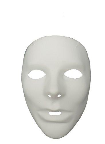 [White Do It Yourself Mardi Gras Masquerade Mask] (White Do It Yourself Mask)