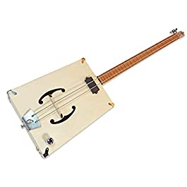 "The""G-Bass"" 2-string DIY Electric Bass Guitar Kit – Fully Fretted"