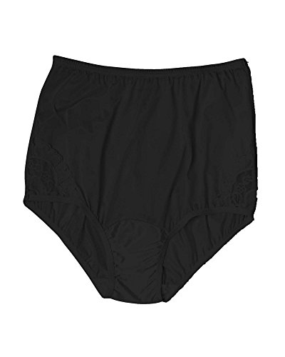Vanity Fair Women's Perfectly Yours Lace Brief, Black, 5, 3-Pack