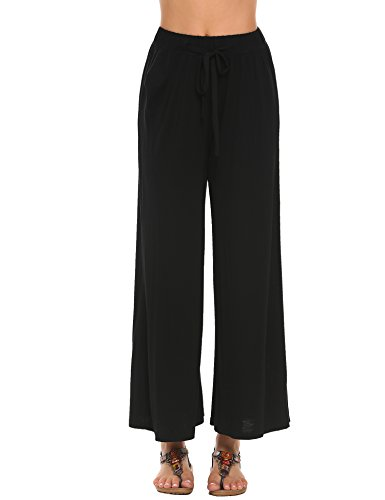 Loose Fit Sleep Pant (Women's Modal Comfy Straight Sleek-fit Slacks Yoga Pants)