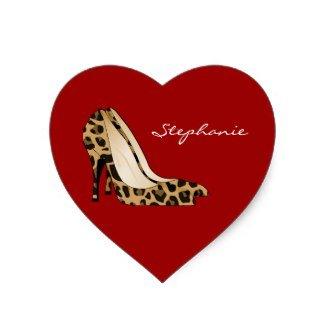Red Heart & Stiletto Heels Sticker.
