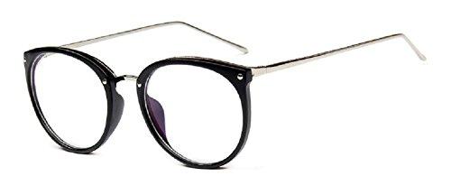 Embryform gouttes montures de lunettes rétro costume lunettes rondes cadre verres 2081 Monture noir et branches argent