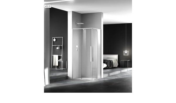 Mampara de ducha Zen acceso de ángulo (dos paneles fijas y dos ...