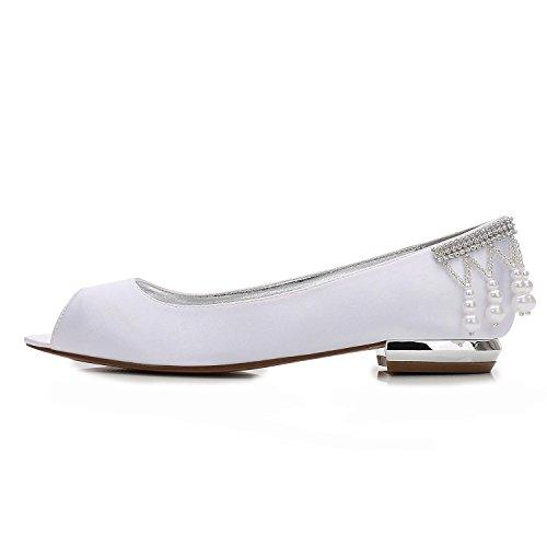 Scarpe Donna high Punta Sposa da da Rotonde Sposa Aperta viola shoes Raso Abito da Ballo da 14 Elegant in Perle F5049 Yp1Egqnxxw