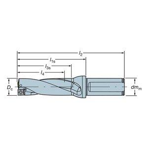 Sandvik Coromant A880-D1875LX38-02 Corodrill 880 Indexable Insert Drill, A880.LXxx-02 Tool Style Code, 1.5'' Shank, 1.5'' Shank Diameter by Sandvik Coromant