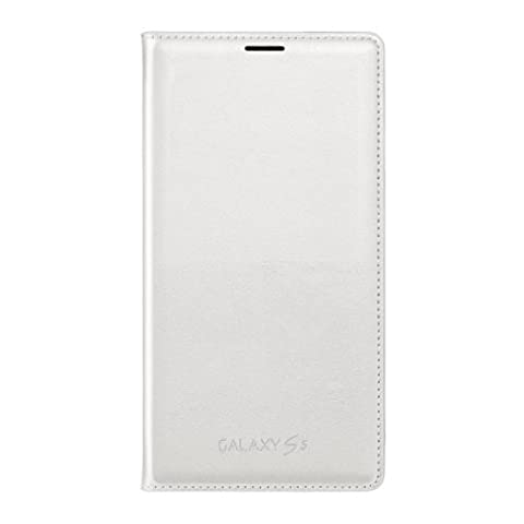 Samsung Galaxy S5 Case Flip Cover Wallet Folio, White (Flip Cover Cases For Galaxy S5)