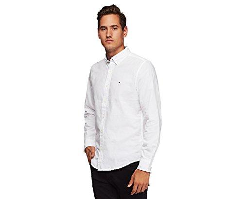 Custom Fit Long Sleeve Buttondown Shirt (White, L) ()