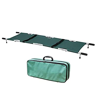 Foldable Aluminum Stretcher,Fencia Professional Aluminum Alloy Portable Stretcher with Handles,Multifunctional Fire Emergency Stretcher for Patient Transport with Storage Bag