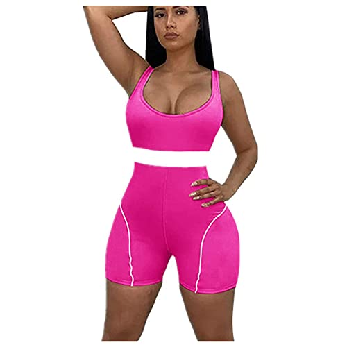 Women's Jumpsuits Shorts, Fashion Sexy Top Short Jumpsuit Rompers Bodysuit One Piece Catsuit for Womens(Rose Red,S)
