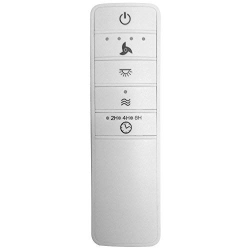 Wink Enabled White Universal Ceiling Fan Premier Remote Control