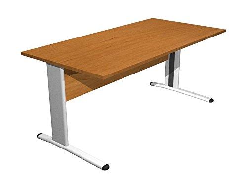 Ideapiu Scrivania Noce con Struttura Metallica Desk with Panel Legs 1600 x 800 x 720h Sp. Thick. 22