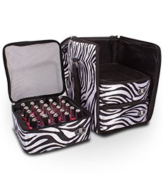 Genial Roo Beauty Nail Polish Varnish Cube, Manicure Storage Bag, Makeup Cosmetic  Case In Zebra