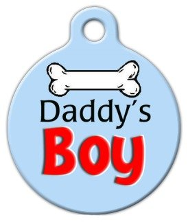 (Dog Tag Art Custom Pet ID Tag for Dogs - Daddy's Boy - Large - 1.25 inch)
