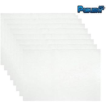PABUSIOR Refrigerator Liners Mats Transparent 8 Pack, EVA 11.8