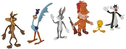 NJ Croce Looney Tunes - 6-Piece Bendable Action Figure Set ()
